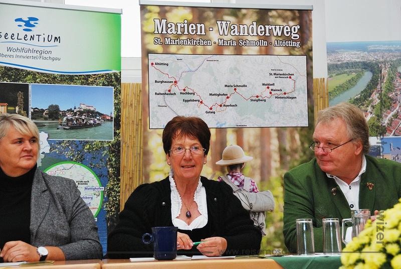 Pressekonferenz Eröffnung Marien-Wanderweg Bayern Oberösterreich