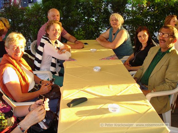 meine Kollegen von Ausstellungsständen, links Gundi Schaber, TVB Bad Vigaun, rechts Georg Habsburg, SalzburgerLand Tourismus und andere