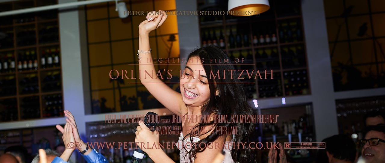 simcha bat/bar mitzvah videographer London - the parlour, bat/bar mitzvah photographer wedding videographer london - videography