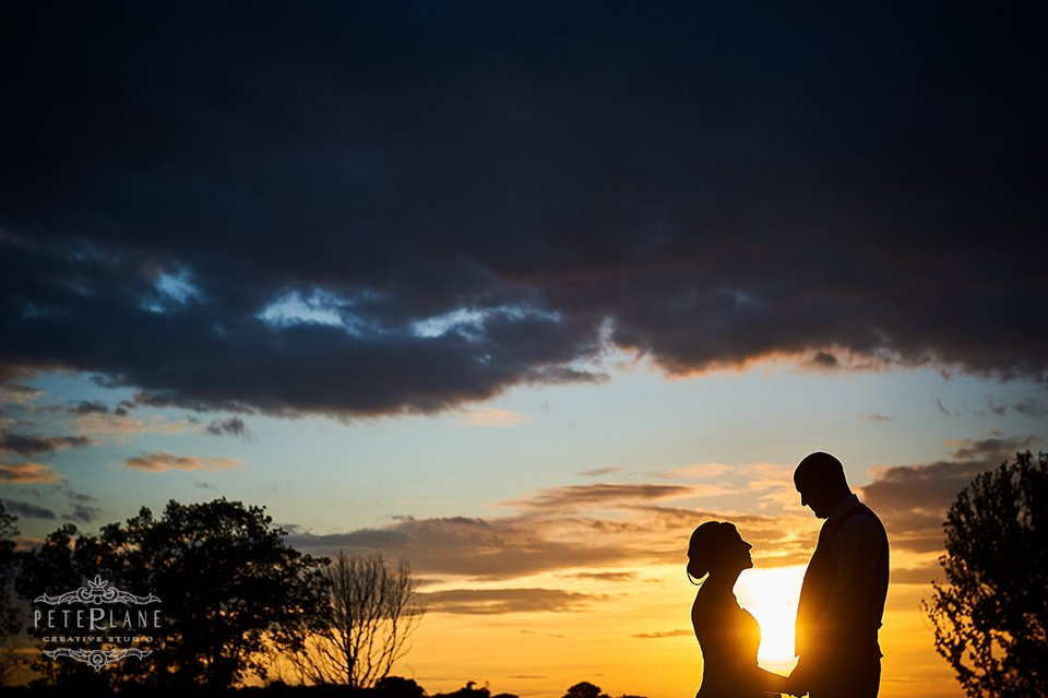Destination wedding photographer London Peter Lane - bride and groom sunset