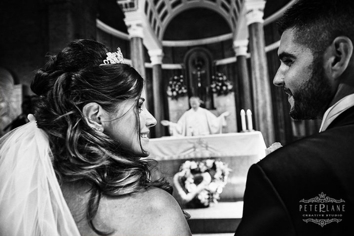 Documentary wedding photographer London catholic service