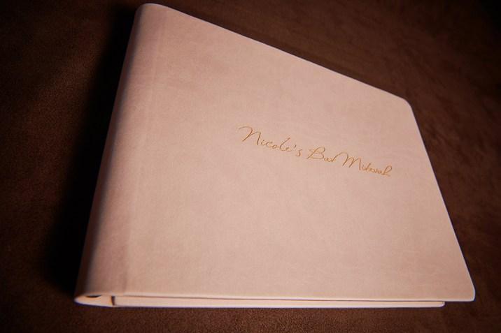 custom luxury wedding album in creme pink colours