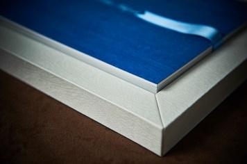 luxury wedding album in gray box
