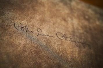 custom luxury wedding album leather cover engraving