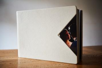 luxury wedding album with photo on cover