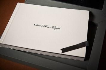 luxury wedding album in white silver theme