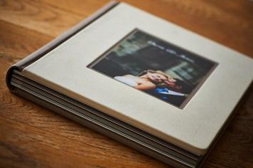 luxury wedding album with cover photo