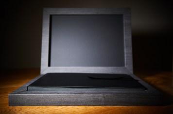luxury wedding album in black colour