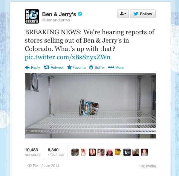 Twitter   benandjerrys  BREAKING NEWS  We re hearing ...