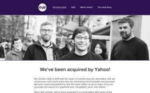 Vizify has been acquired by Yahoo