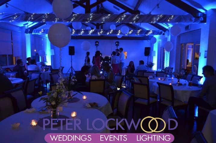 Bellavista with blue wedding uplighting