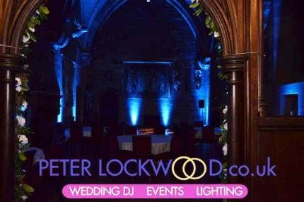 Ice-blue-mood-lighting-in-the-great-hall-at-Peckforton-Castle