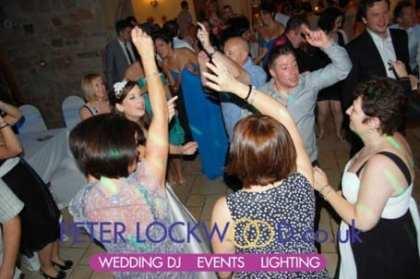 Wedding guests dancing in Beeston Manor
