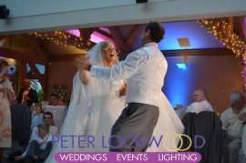 stunning wedding first dance in the white hart lydgate wedding venue