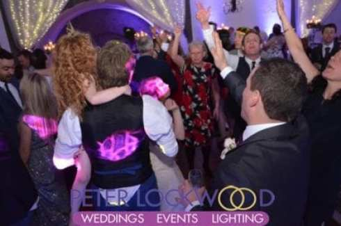 Tilden suite at Shrigley Hall wedding disco
