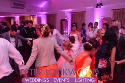 red hall bury wedding dj