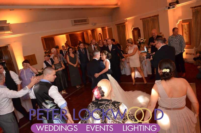 Red Hall Wedding Lighting