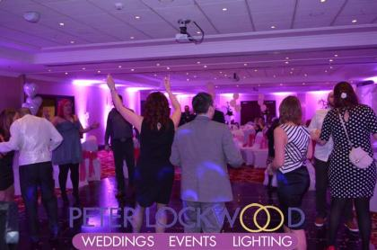 Worsley Park Marriott Hotel wedding lighting