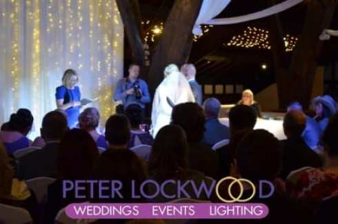 wedding vows at rivington barn