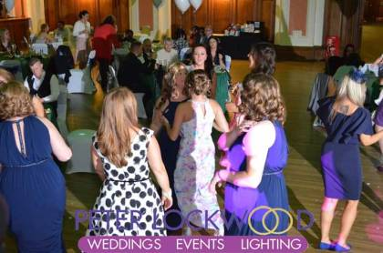 dancing wedding guests at Stockport Town Hall