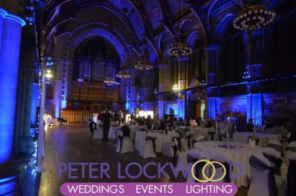 blue wedding lighting