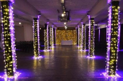 wedding asile lighting in manchester