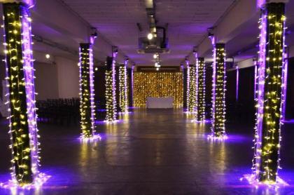 wedding asile lighting in manchester