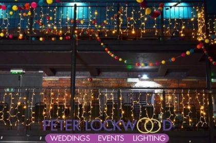 balcony fairy lights