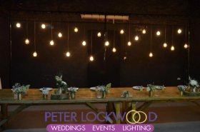 edison lamp top table backdrop