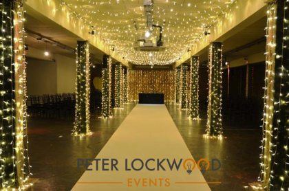Victoria Warehouse wedding aisle
