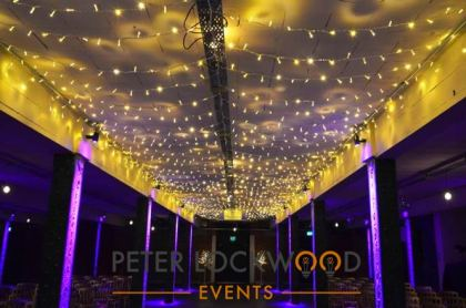 wedding fairy light canopy