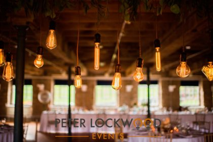 different types of edison lamps for a wedding