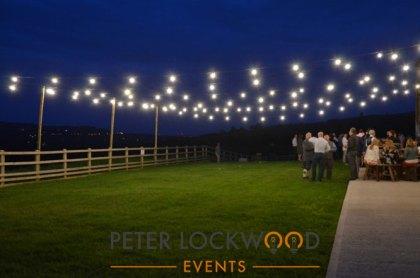 wedding festoon lighting canopy