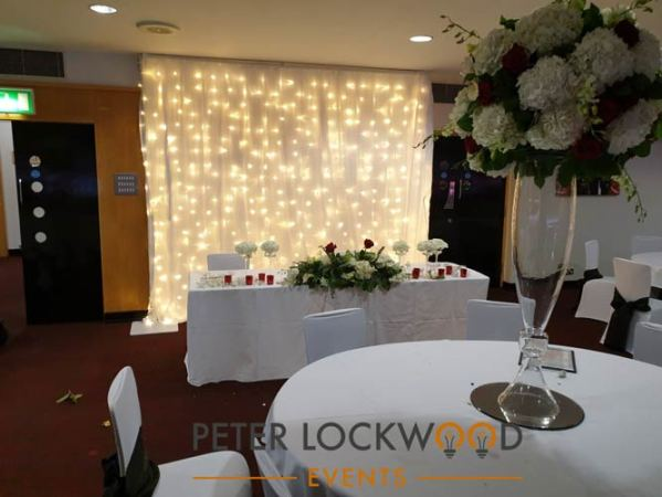 wedding backdrop at manchester united fc