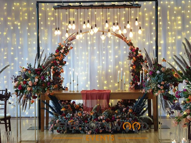 Sweetheart Table Lighting