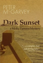 Dark Sunset Mystery Novel Book Cover