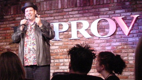 Peter doing Stand-Up Comedy at the Irvine Improv