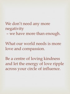 Call for expression of loving kindness