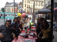 with the James McCann band for galette in Rennes