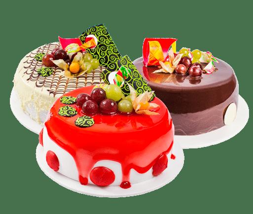 Promoción de tortas tres leches, fresa y chocolate