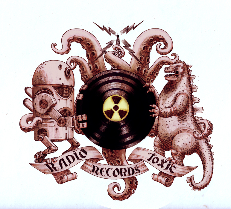 Radio Records - 2011 - Ink on Illustration board (Commission for an internet radio)
