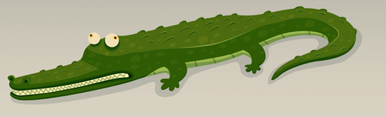 Gator Cleaned - I like this guy, Sid from Juvy Hall did the colouring