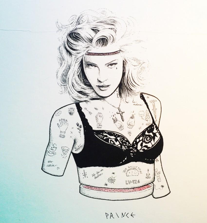 Prince - ink on illustration board