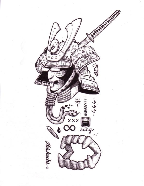 Bite - 2017 - Ink on illustration board