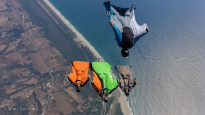 Wingsuitformation Mexiko, Picture by Scotty Patterson