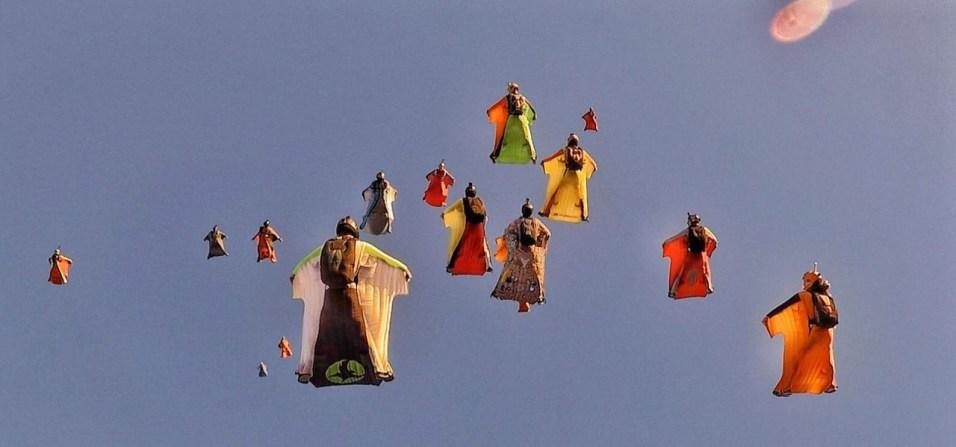 Wingsuitformation Mexiko