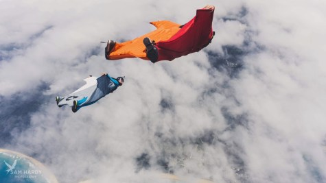 Peter Salzmann, Wingsuit, Picture by Sam Hardy