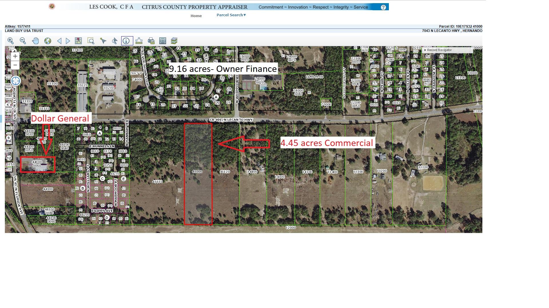 9 16 Acres Vacant Land Hernando Citrus County Florida