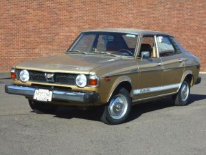 1978 Subaru DL  4 door Sedan  Gold