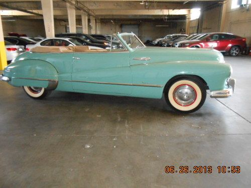 1947 Buick Road Master Convertible  Seafoam Green